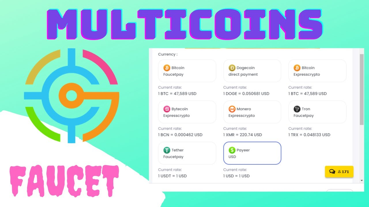 🌟MultCoins🌟 | Auto-faucet/manual faucet/shorts/ptc/offers/bonus/loteria/referencia